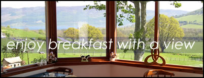 Enjoy breakfast with a view of Loch Ness